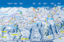 Map of ski area