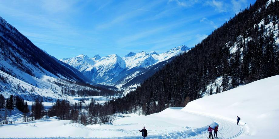 Ski de fond dans le Lötschental, 24 km