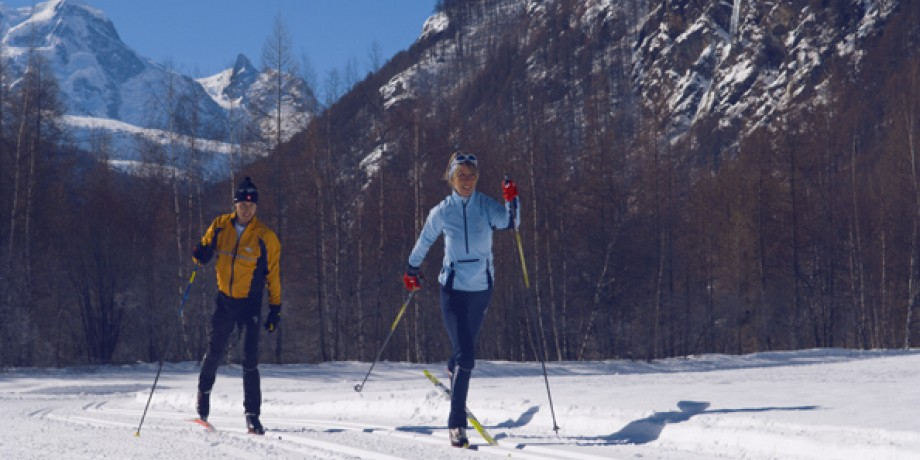 Cross-country skiing at Täsch-Randa, 12 km
