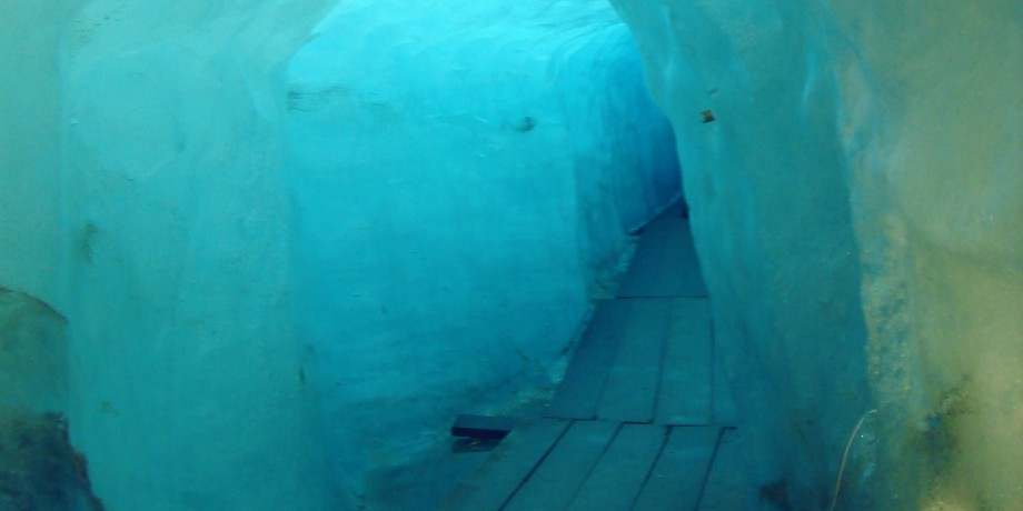 Ice cave in the Rhone glacier
