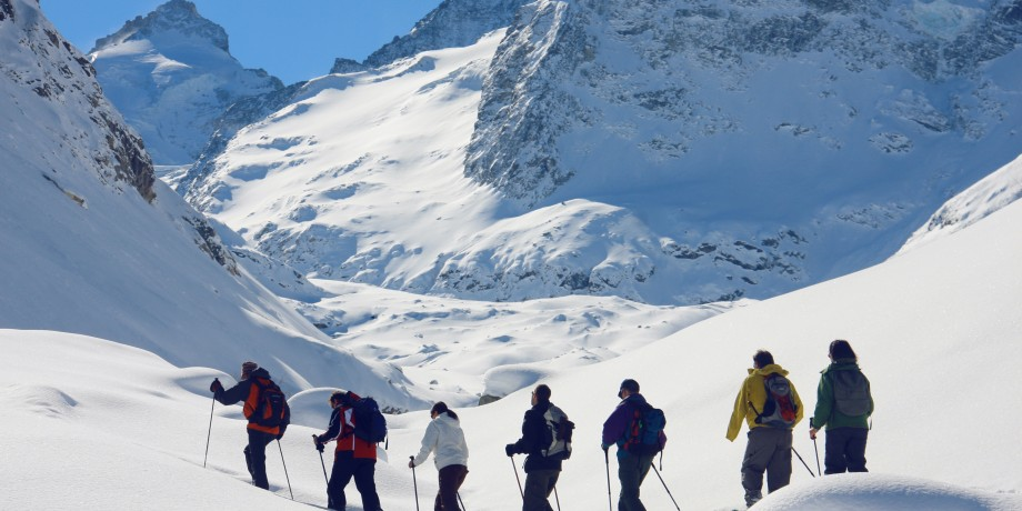 Schneeschuhtour auf den Zinal-Gletscher