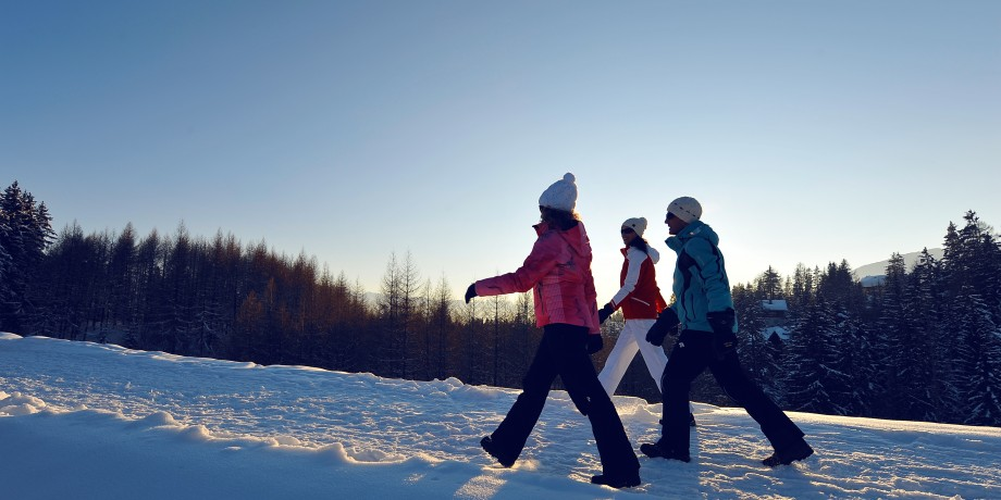 Wintersonne in Crans-Montana