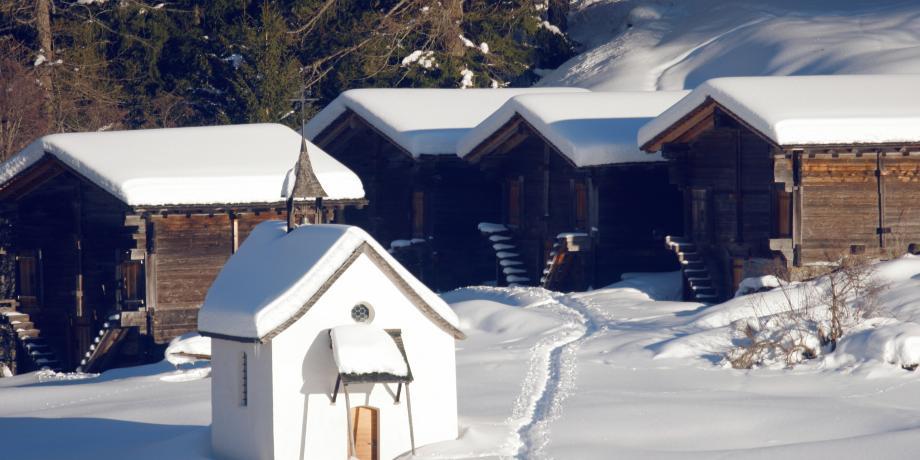 L'Obergoms sous son manteau de neige