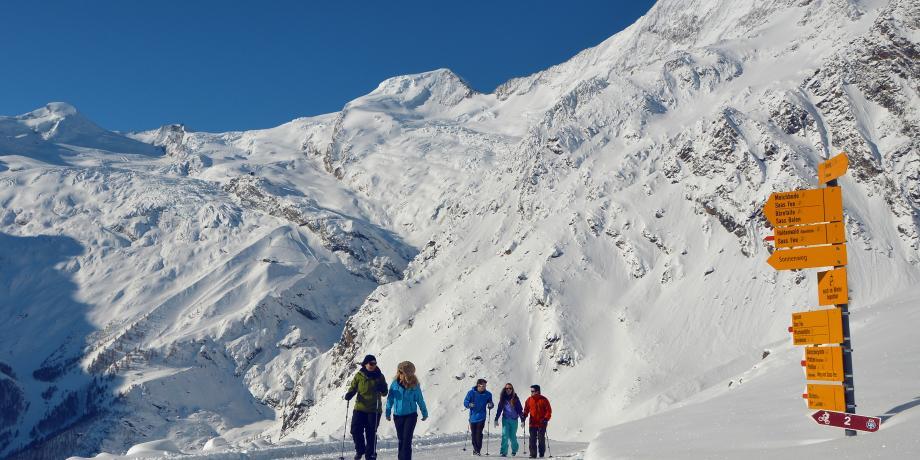 Saas-Fee and its crown of snow-capped peaks