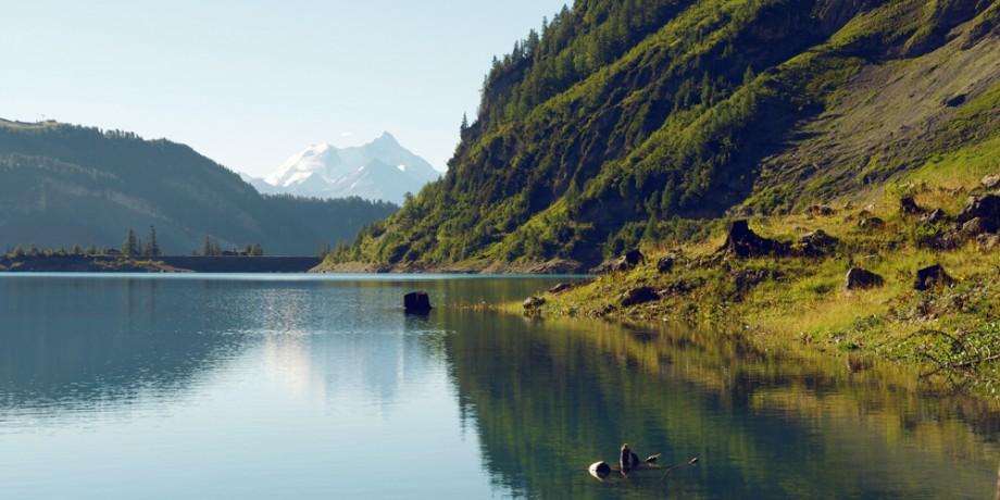 Discover the lake of Tseuzier