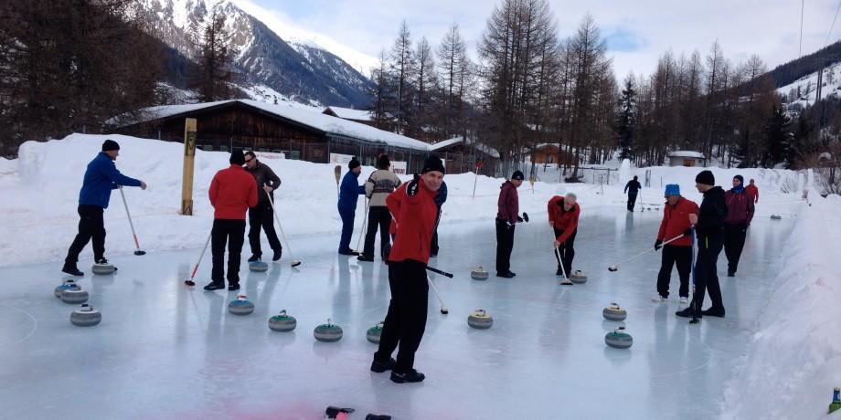 Curlingbahn Obergesteln
