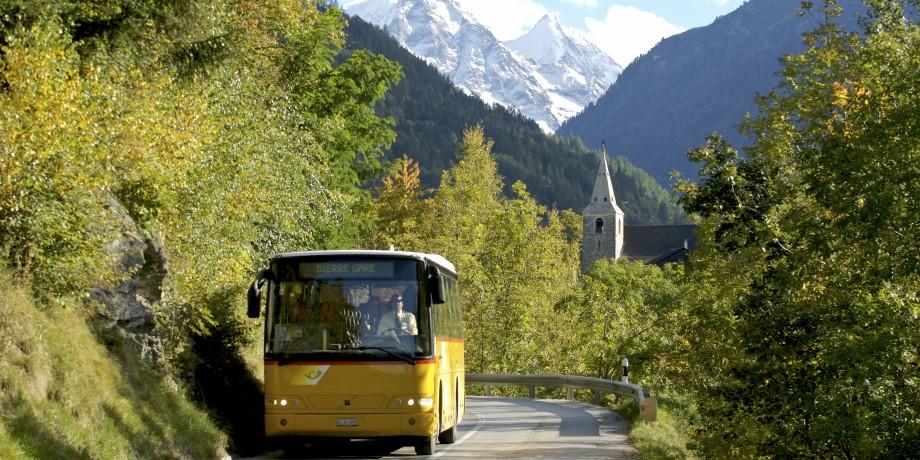 Swiss postal bus