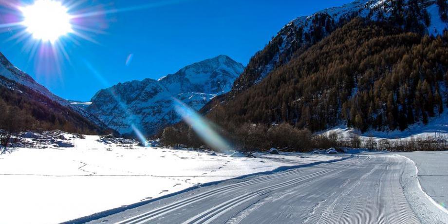 Cross-country skiing in Arolla (18 km)