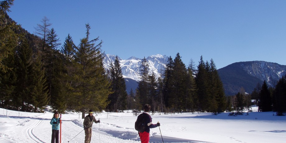 Cross-country skiing in Champex-Lac (12 km)
