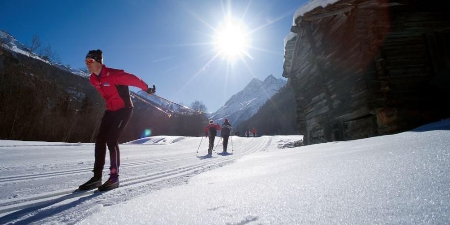 Cross-country skiing in Evolène - Les Haudères (12 km)