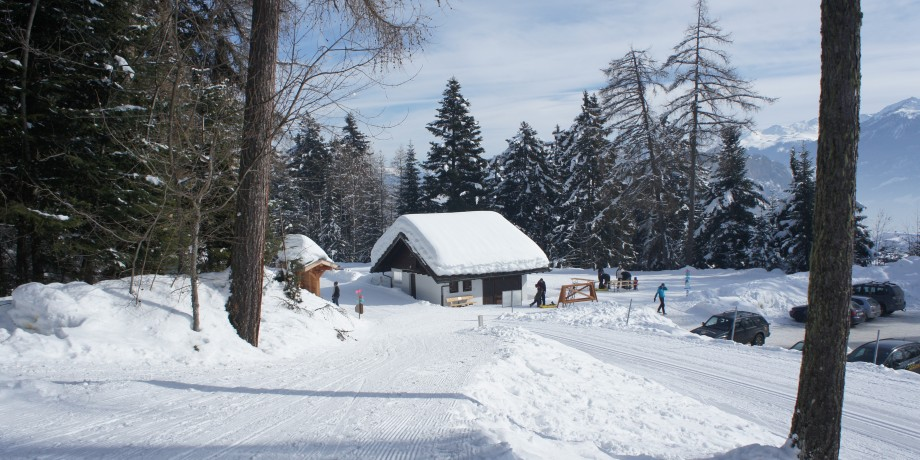 Cross-country skiing trails in Ovronnaz (22 km)