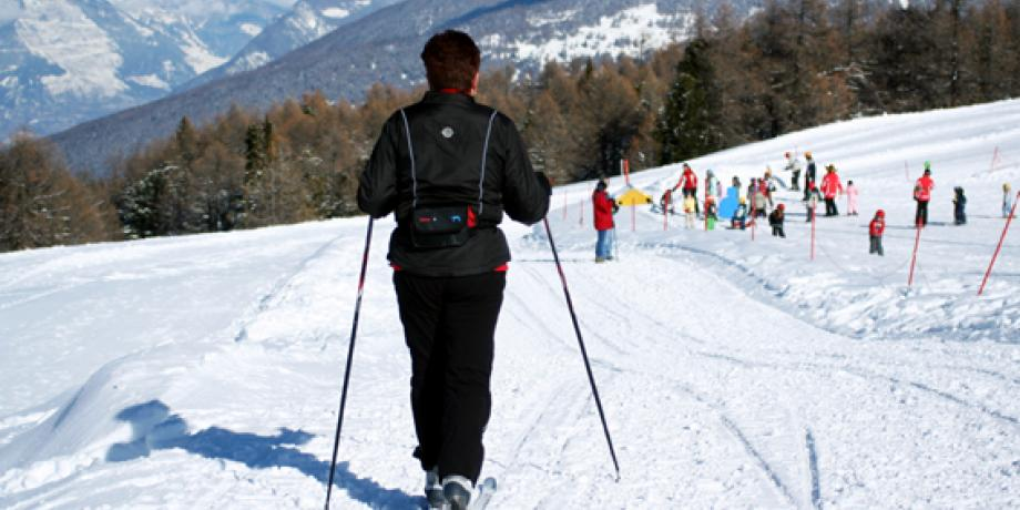 Cross-country skiing in Thyon