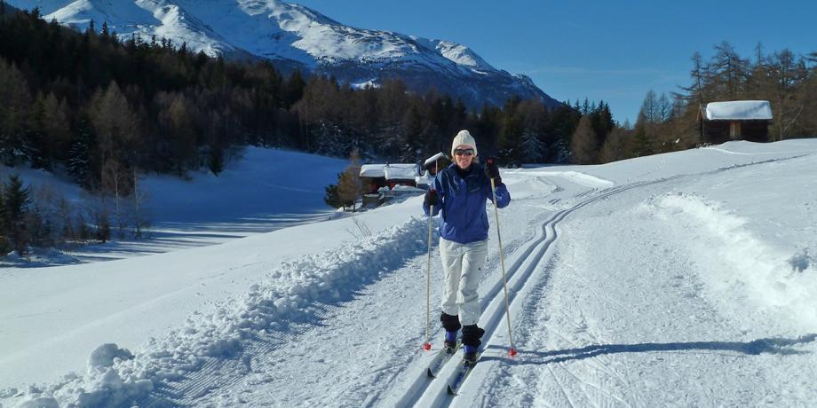 Cross-country skiing in Zeneggen (10 km)