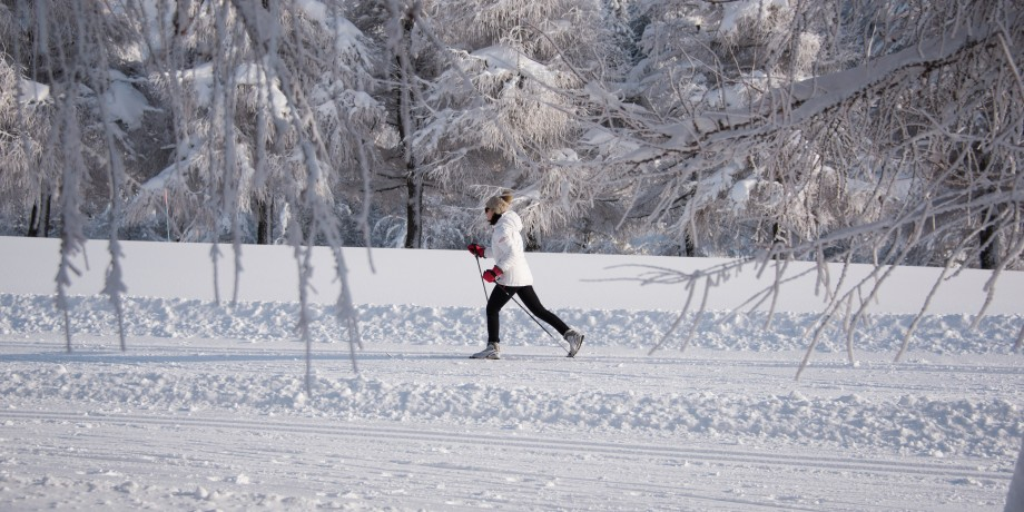 Cross-country skiing in Crans-Montana (19,5km) and on Plaine Morte (8km)