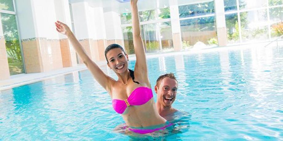 Indoor brinewater pool