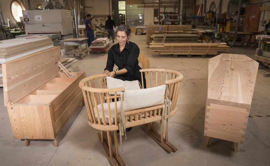 from the cradle to the rocking chair. Carpentry Valais Wallis Schweiz Switzerland Suisse
