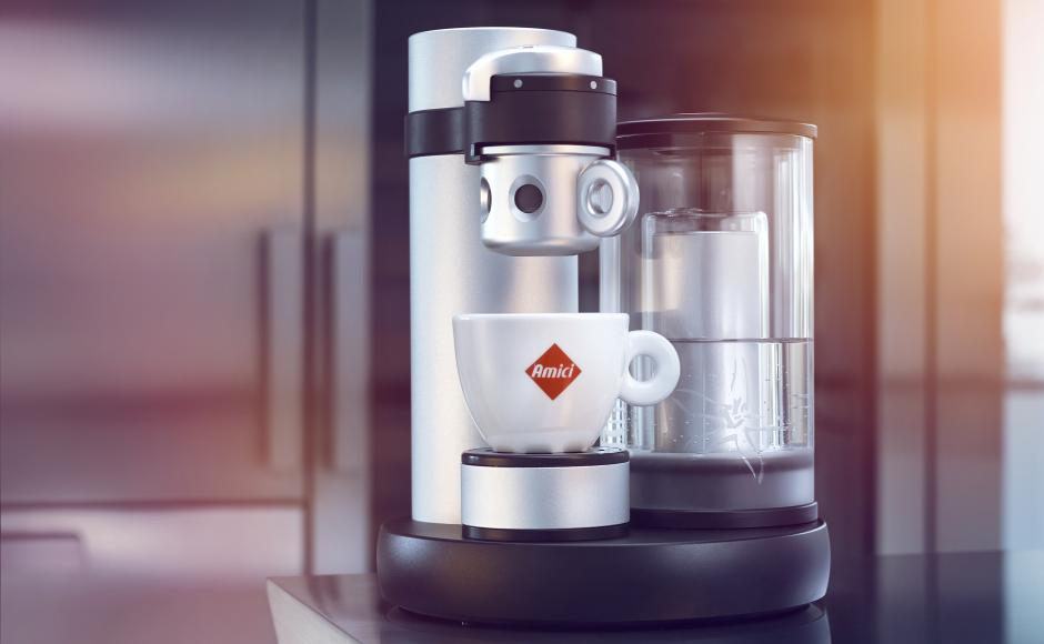 KISS, world's smallest coffee machine produced in Valais