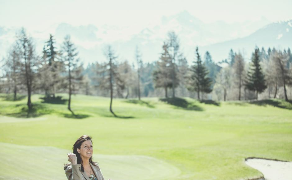 Nati Felli, host of the Hotel Guarda Golf, Crans-Montana, Valais