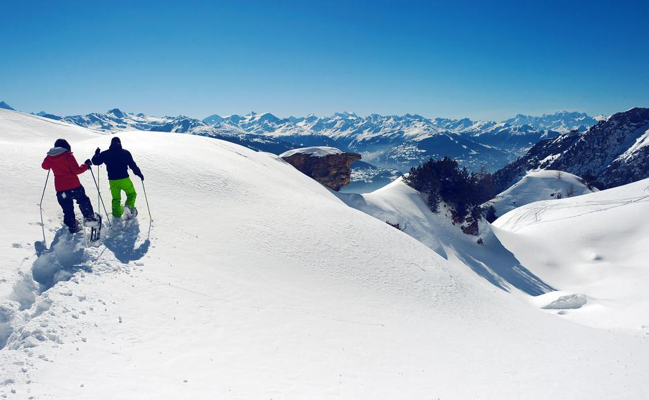 Snowshoeing in Crans-Montana, Valais