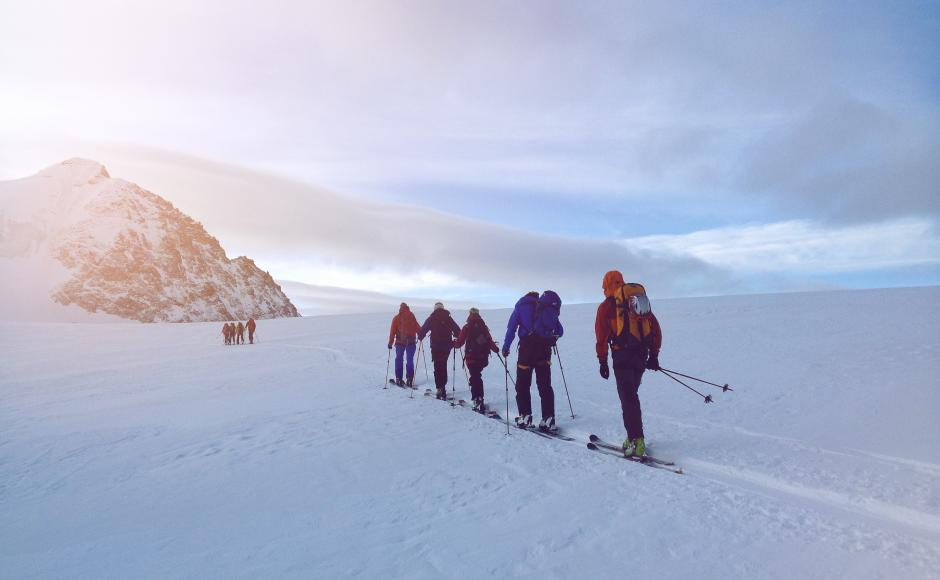 With ski or snowshoes - Edward Bekker guides his guests through the winter magic.