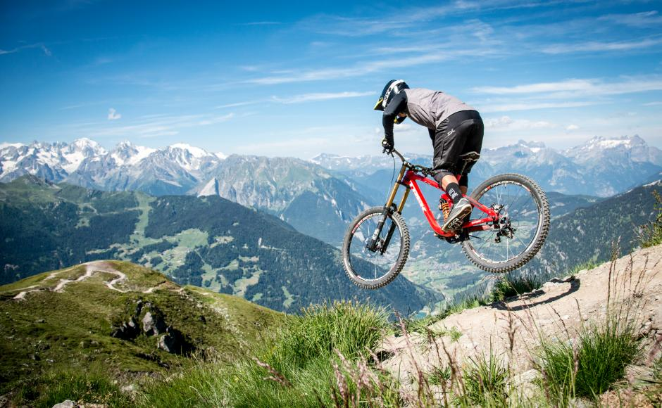Mountainbike near Verbier, Valais, Wallis