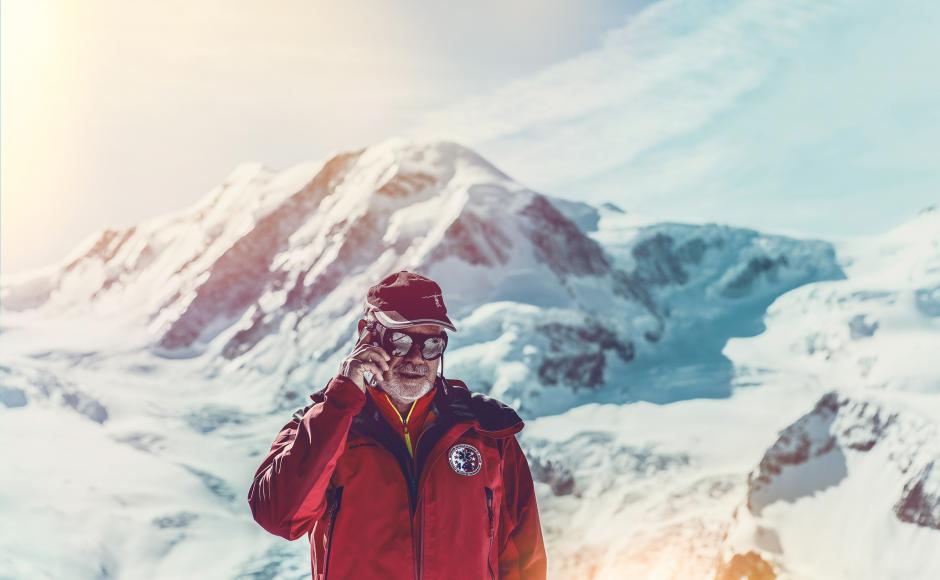 Bruno Jelk, ready for mountain rescue at Air Zermatt