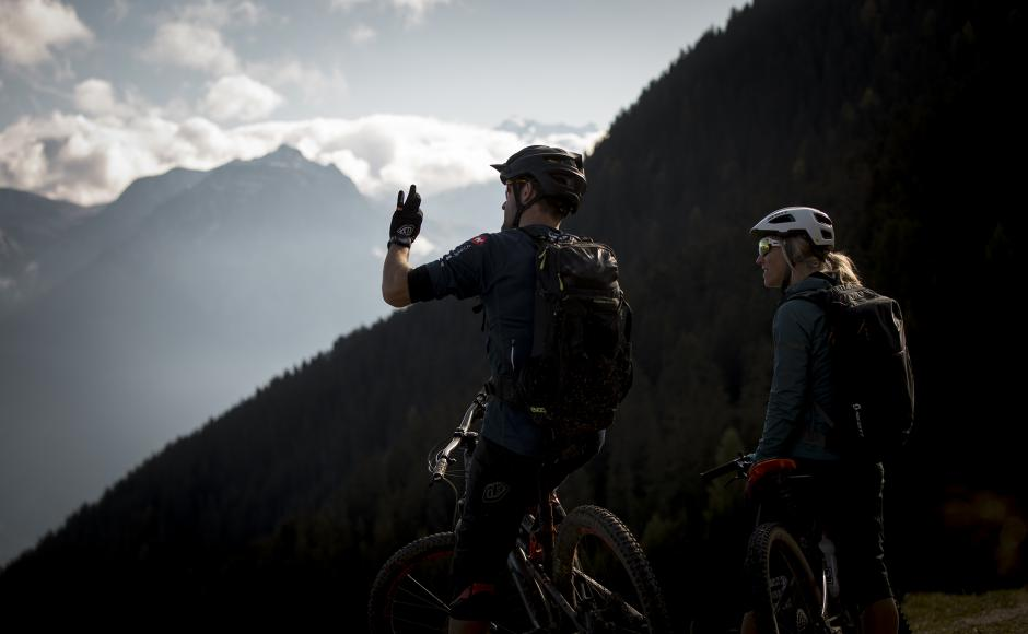Mountainbiker im Goms, Wallis