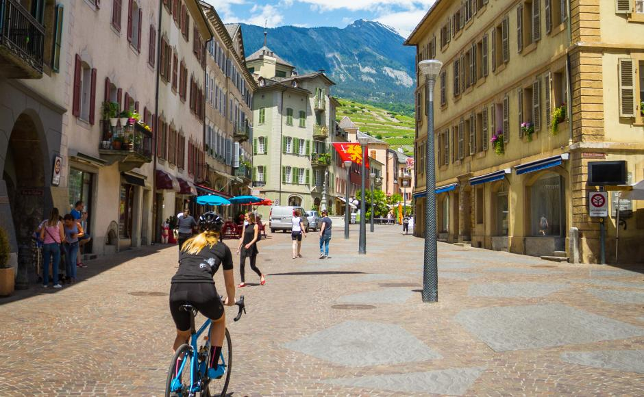 Old town of Sion, Valais Cycling Tour