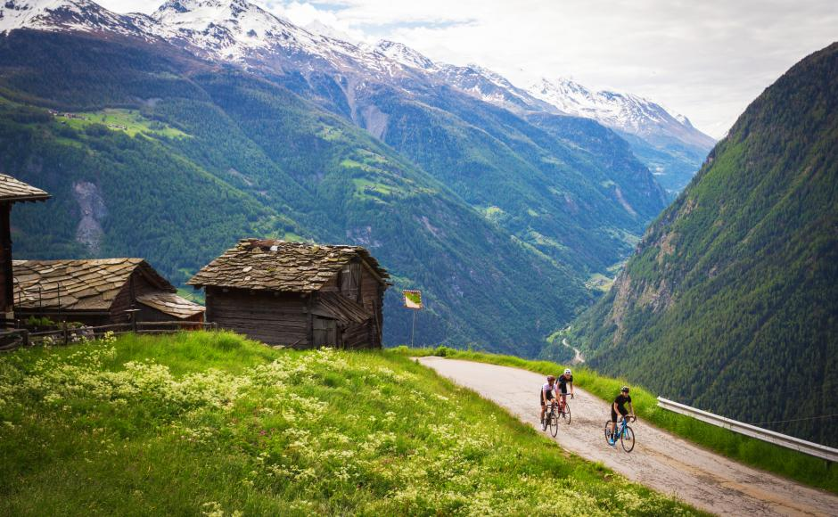 On the Valais Cycling Tour roads, Upper Valais