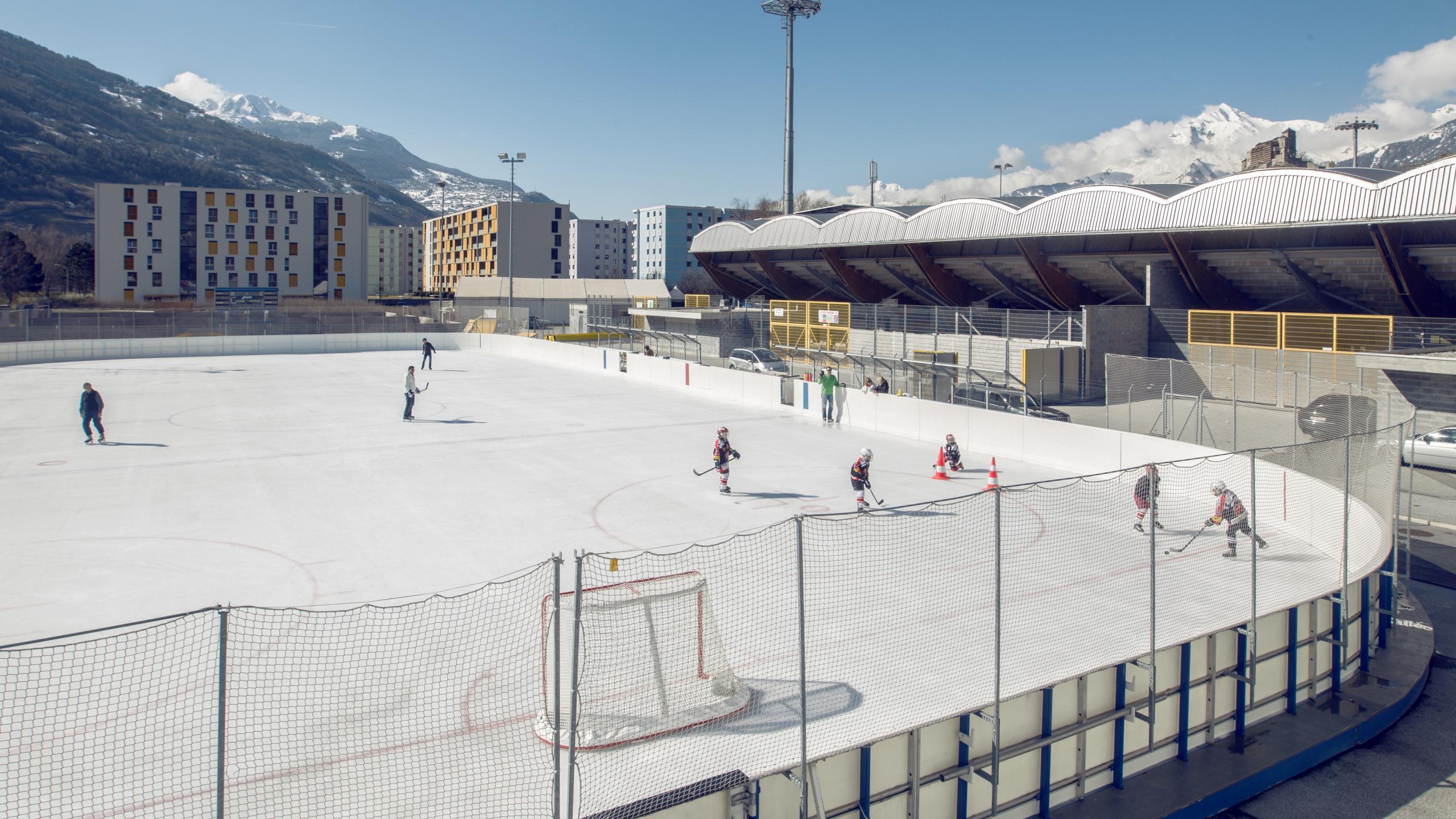 sportzentrum tourbillon ice skating in sion sitten valais