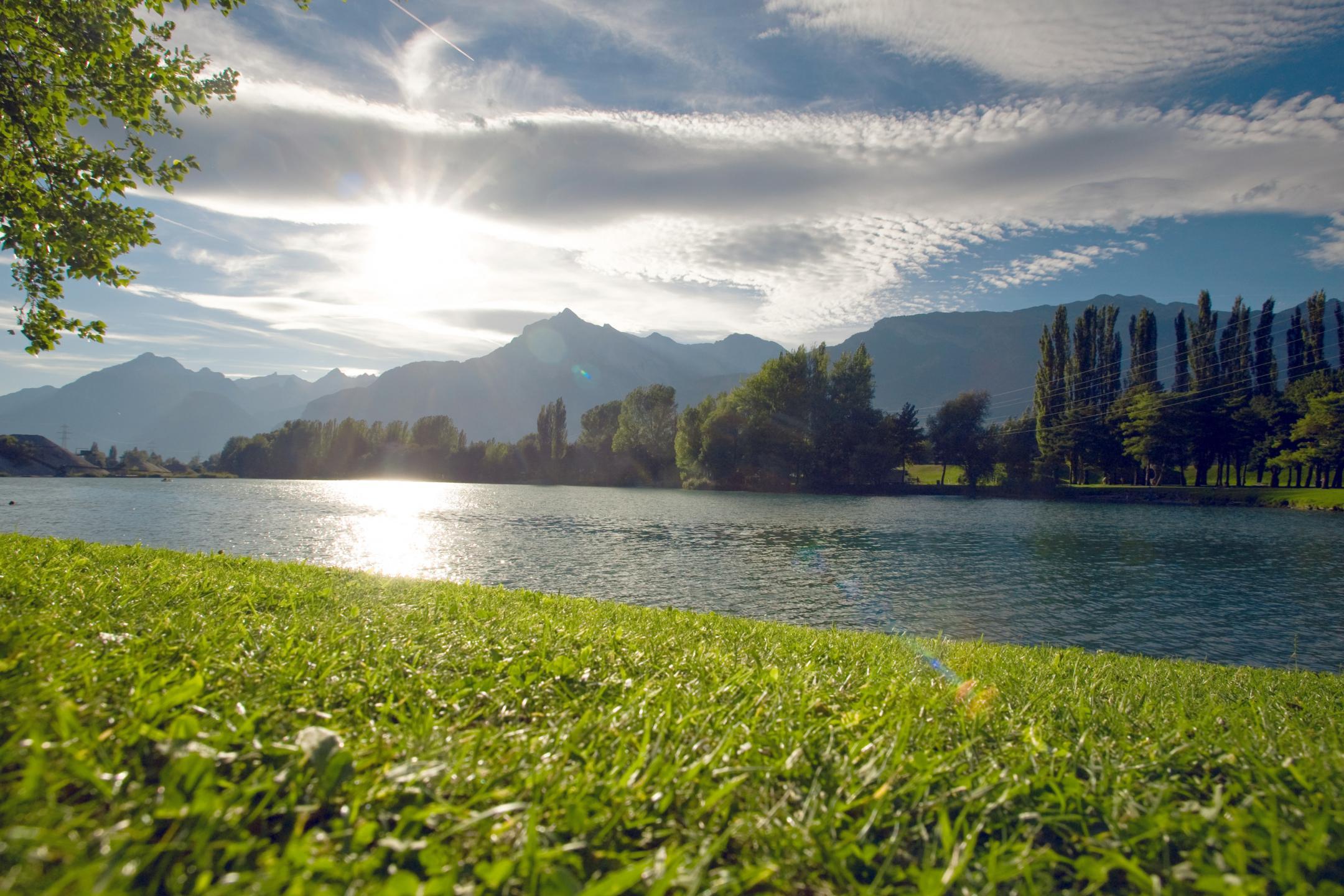 Lac Panorama Valais Nager