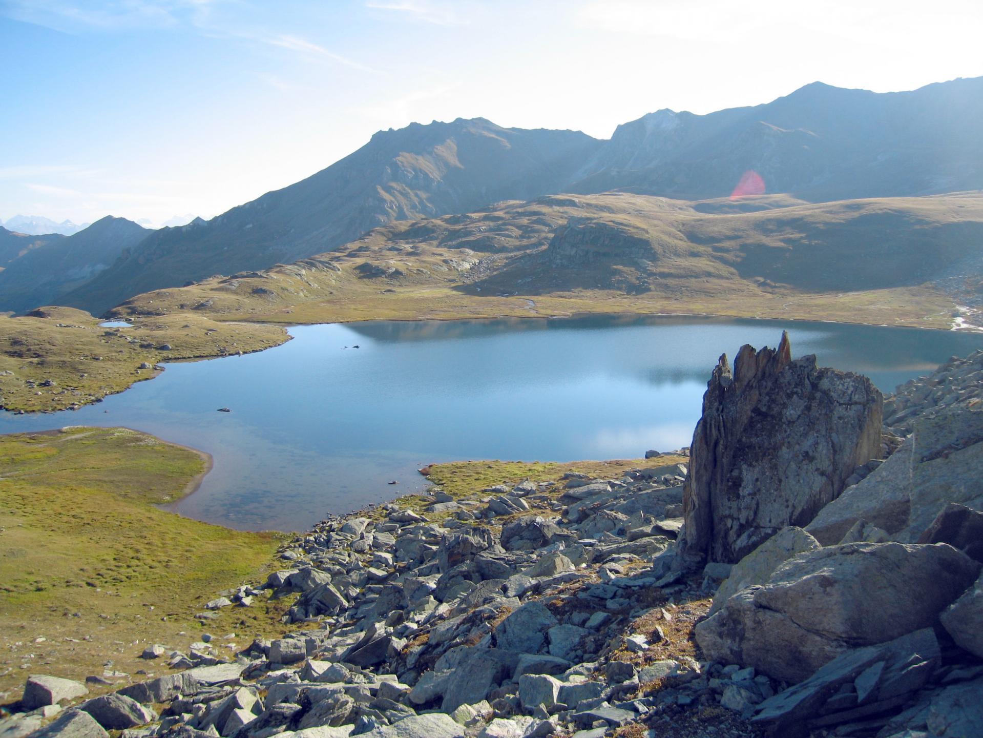 Lac De Montagne Valais Nature Rafraichissement