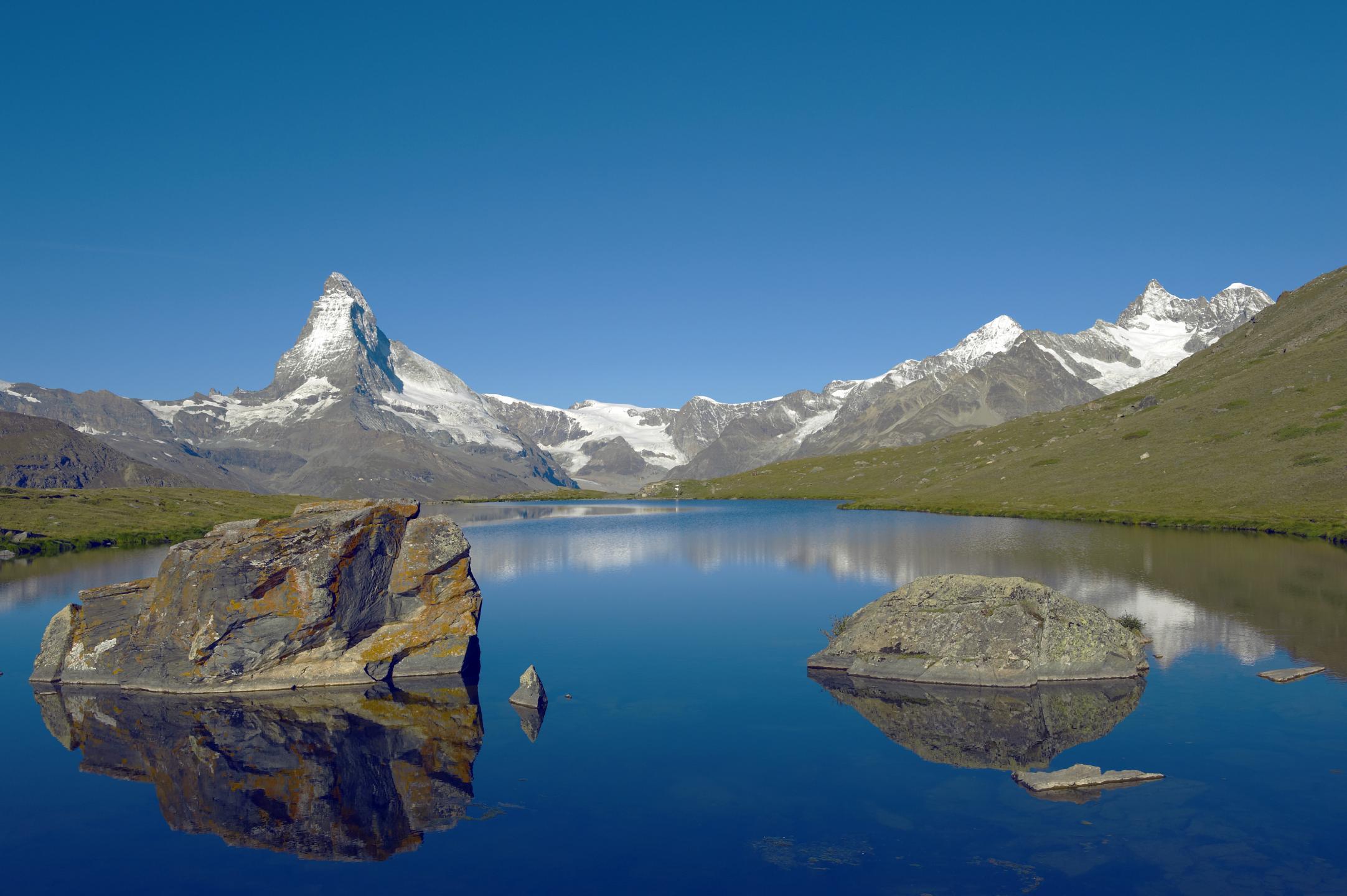 Lac De Montagne Valais Panorama