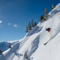 "Amélie freeriding Telemark-style in the Thyon region. ""I can't imagine anything more beautiful,"" the champion racer says"