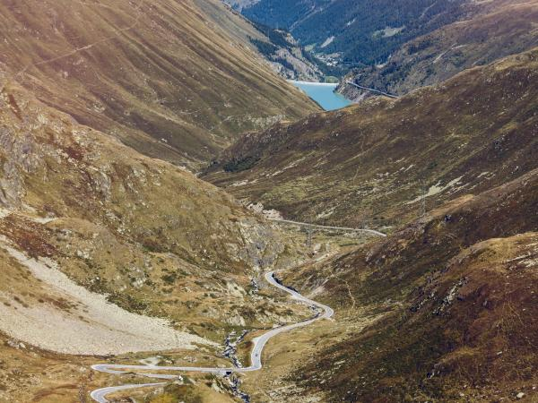 Road to the Great St Bernard pass, Grand Tour of Switzerland, Valais