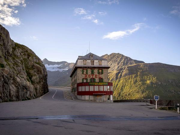 Hotel Belvedere on the road to Furka in the Upper Valais, Valais Switzerland