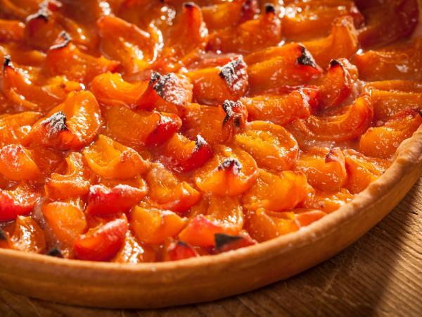 Tarte à l'abricot, abricots du Valais