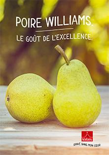 Brochure poire williams, williamine, Valais/Wallis Promotion, Schweiz