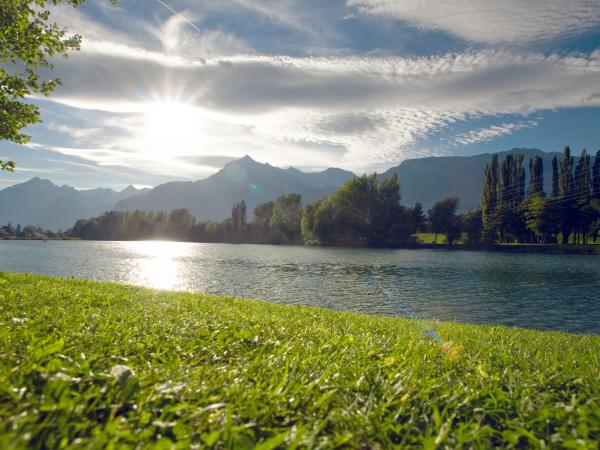 lake, mountains, valais, outdoor
