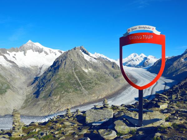 Photo spot at the Aletsch glacier, Grand Tour of Switzerland, Aletsch Arena, Valais
