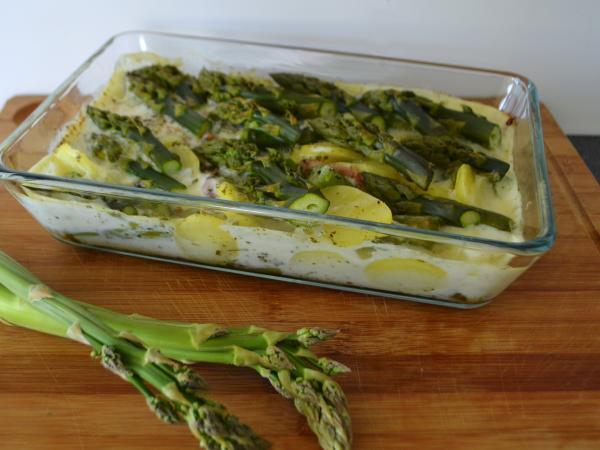 Gratinated asparagus, Valais