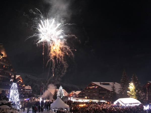 New year's eve in Anzère. Valais, Switzerland