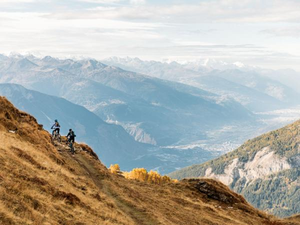 Mountainbike Leukerbad Valais Wallis Schweiz