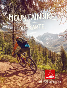 Mountainbike Karte, Valais/Wallis Promotion