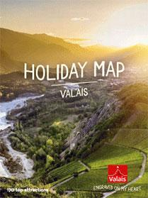 Holiday Map of Valais, Switzerland, Points of interest brochure