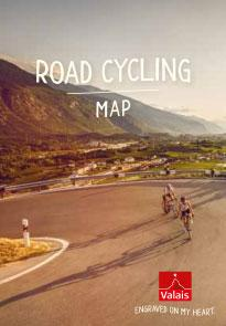 Road cycling map of Valais, Switzerland