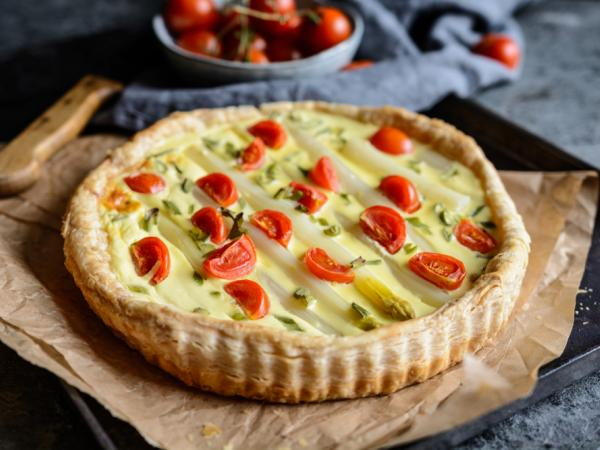 Asparagus pie, Valais, Switzerland