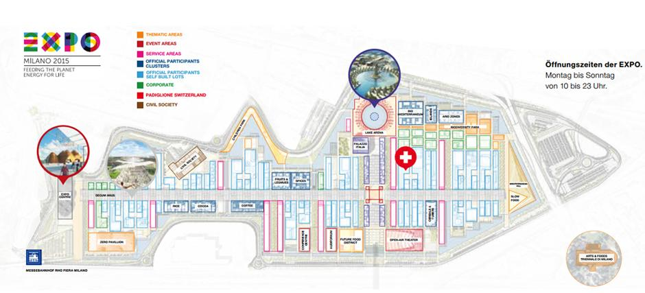 Situationsplan - Expo Milano 2015, Wallis