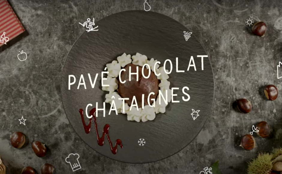 Chestnut chocolate pavé, Recipes, Valais, Switzerland